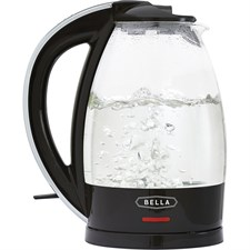 Bella - 1.7L Electric Kettle - Black/Clear